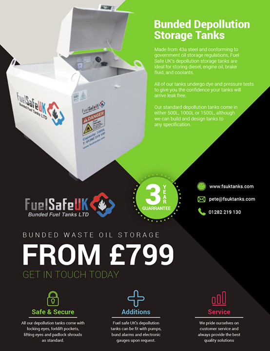 Bunded waste oil tanks. starting from £799. Make sure your waste oils and fluids…